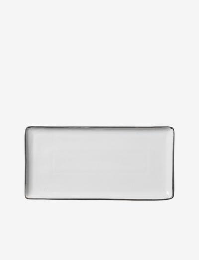 Plate Esrum - asjetter - ivory/grey colour