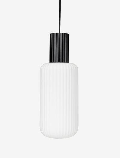 Ceiling lamp Lolly - pendler - black/white opal glass
