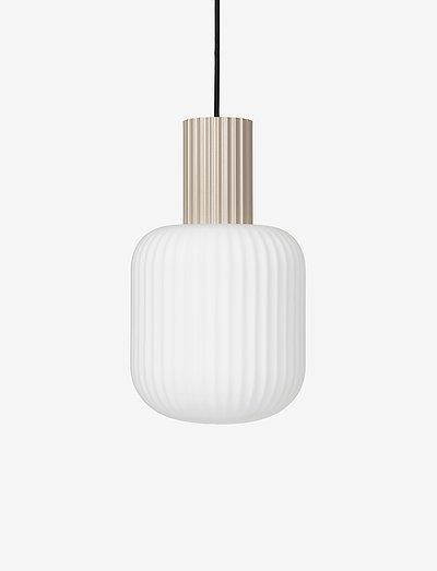 Ceiling lamp Lolly - pendler - sand/white opal glass