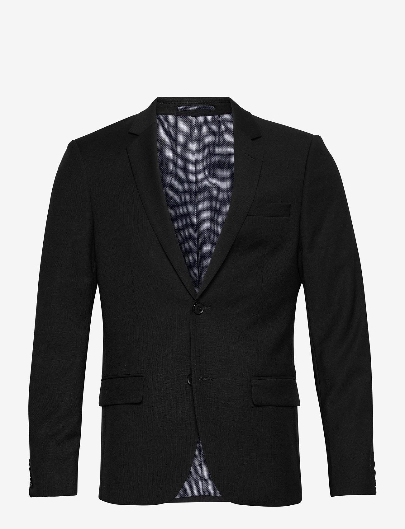 Bruun & Stengade - Hardmann, Suit Blazer - single breasted blazers - black - 0
