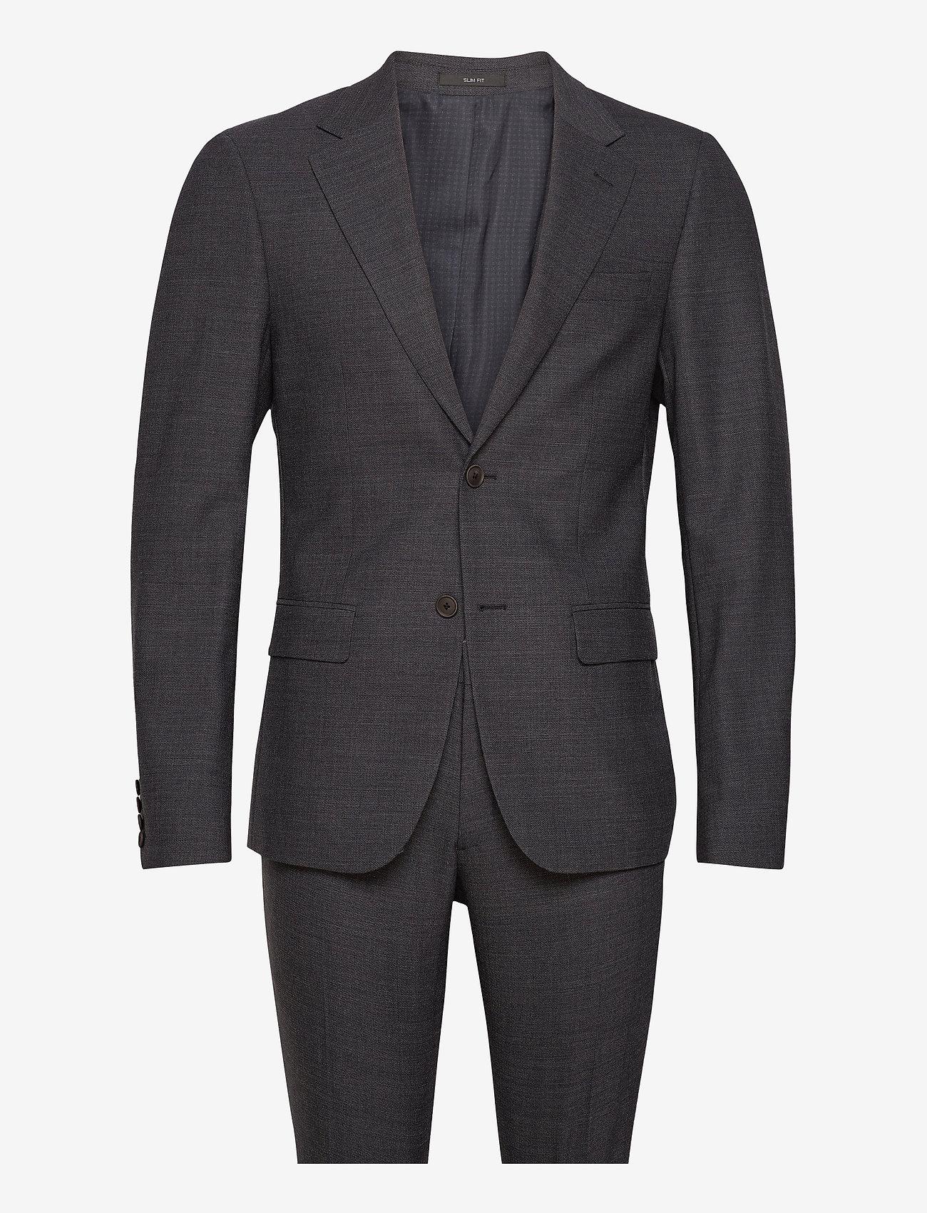 Bruun & Stengade - Shadow Suit set - enkeltkneppede dresser - dark grey - 0