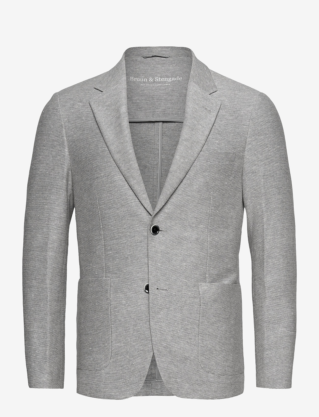 Bruun & Stengade - BS Barbaresco Tailored, Blazer - single breasted blazers - grey - 1