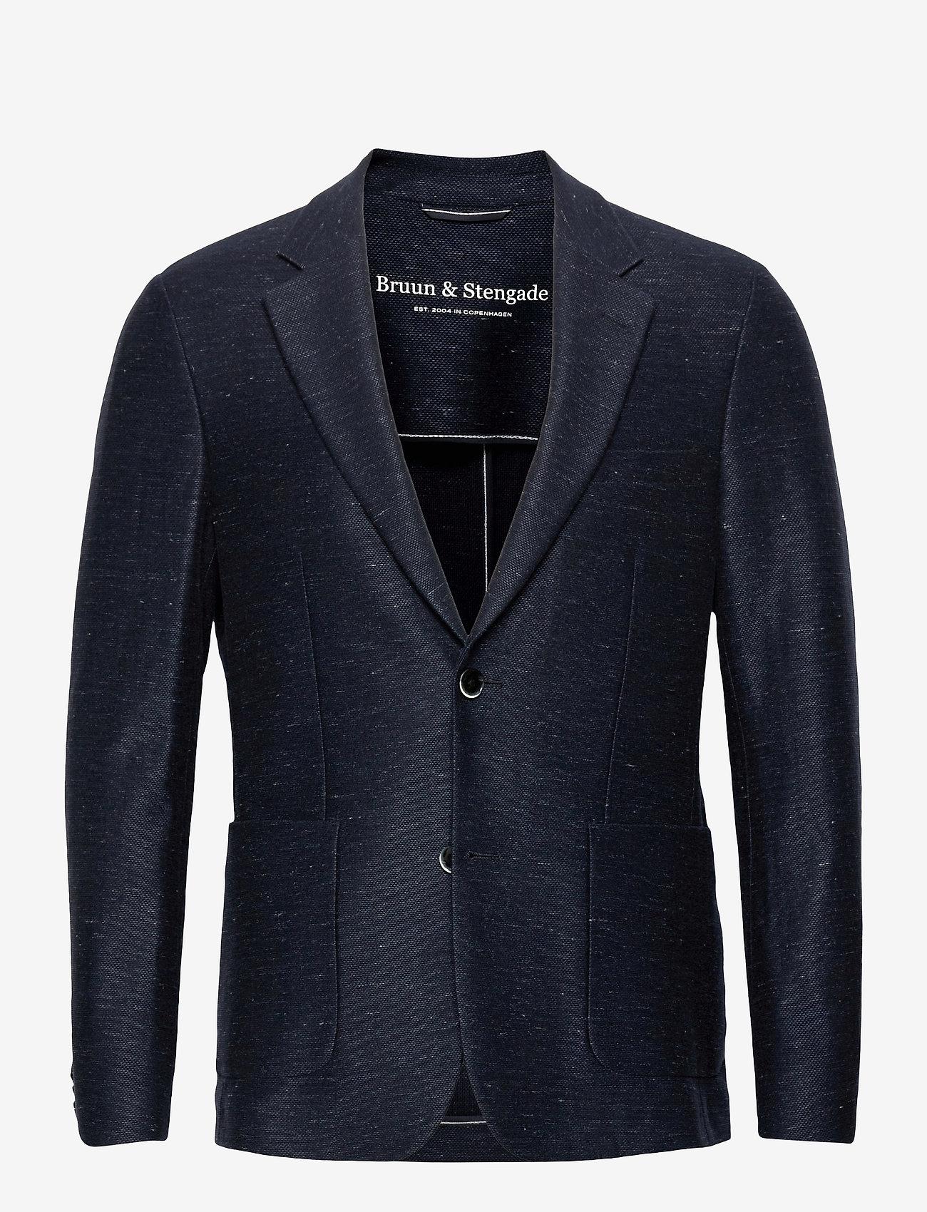 Bruun & Stengade - BS Barbaresco Tailored, Blazer - single breasted blazers - navy - 0