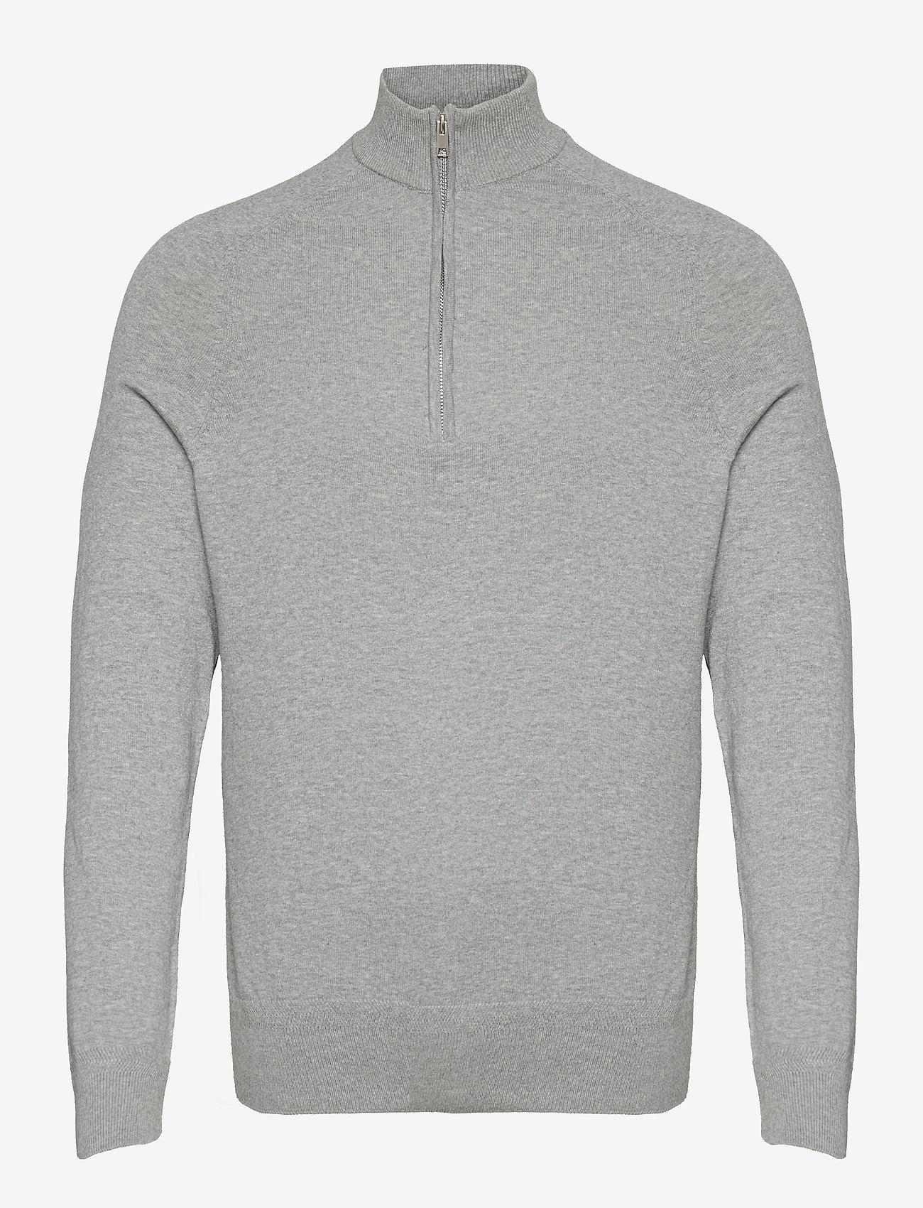 Bruun & Stengade - BS Jason - half zip - grey - 1