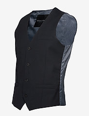 Bruun & Stengade - BS Hardmann - waistcoats - black - 1