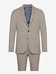 Bruun & Stengade - BS Puglia, Suit Set - enkeltkneppede dresser - sand - 0
