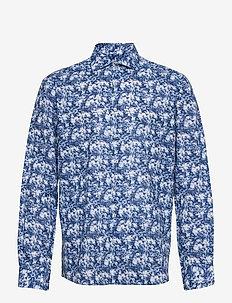 BS Badger - chemises de lin - blue