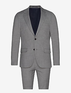 BS Alsace Slim, Suit - single breasted suits - grey