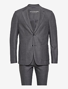 Castello, Suit Set - enkeltkneppede dresser - dark grey