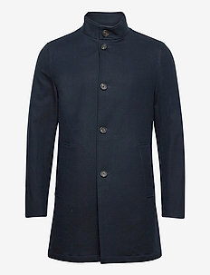 BS Renzo, Slim - wool coats - navy