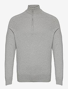 BS Jason - half zip jumpers - grey