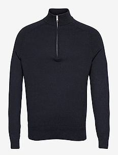 BS Jason - truien met halve rits - navy
