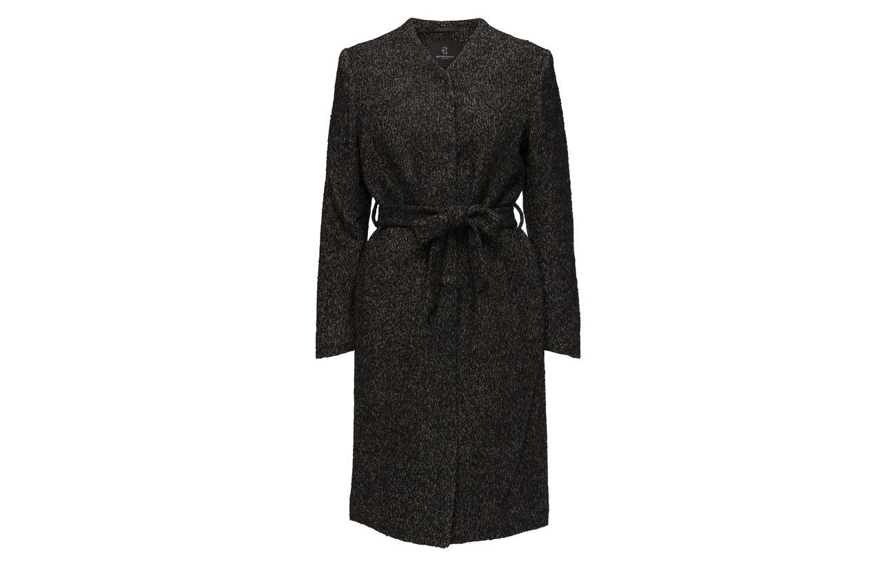 Black Bruuns Helga Équipement Laine 100 Coat white Bazaar Grivelle InFxrHn