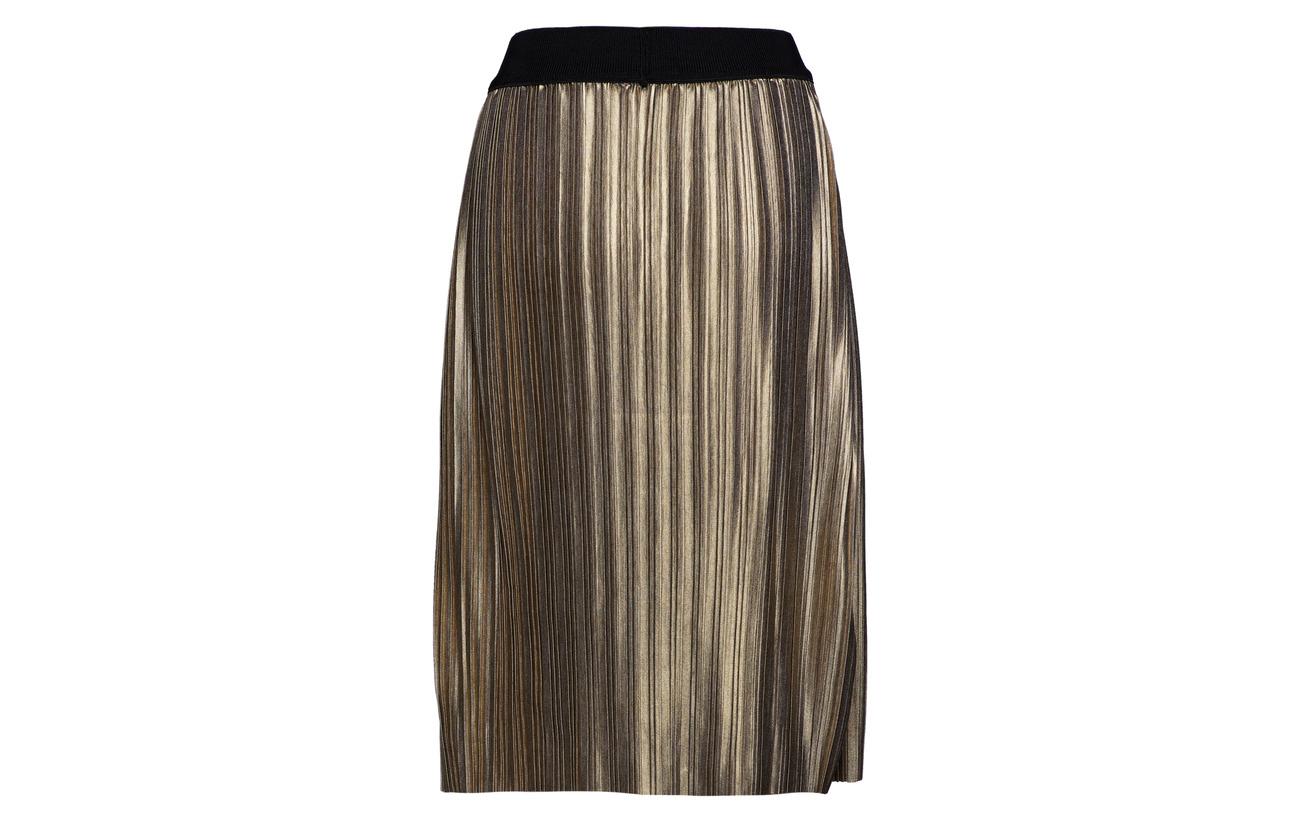 Chilla Skirt 100 Gold Polyester Midi Bruuns Nilla Bazaar OnEqpwSnT1