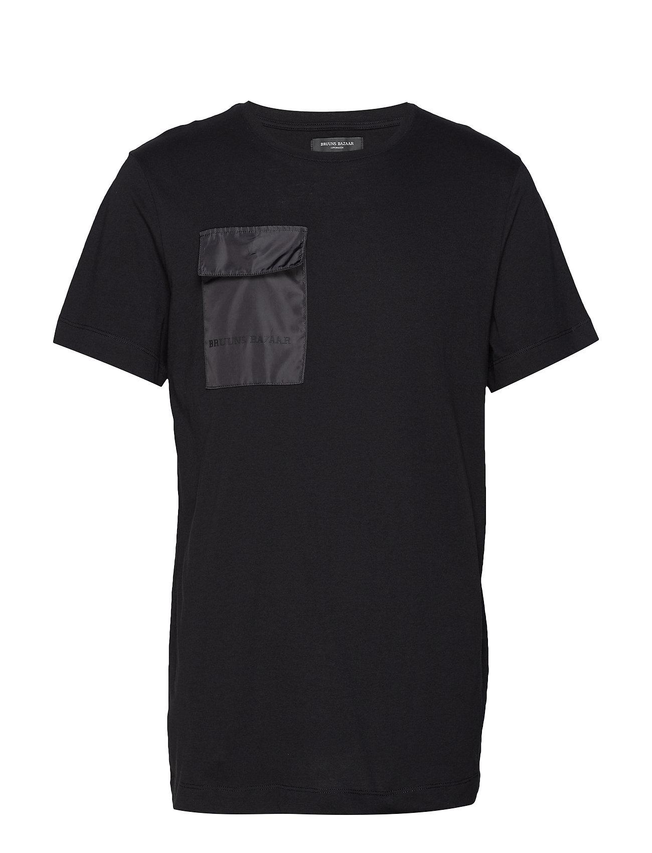 Bruuns Bazaar Gustav Utility t-shirt - BLACK
