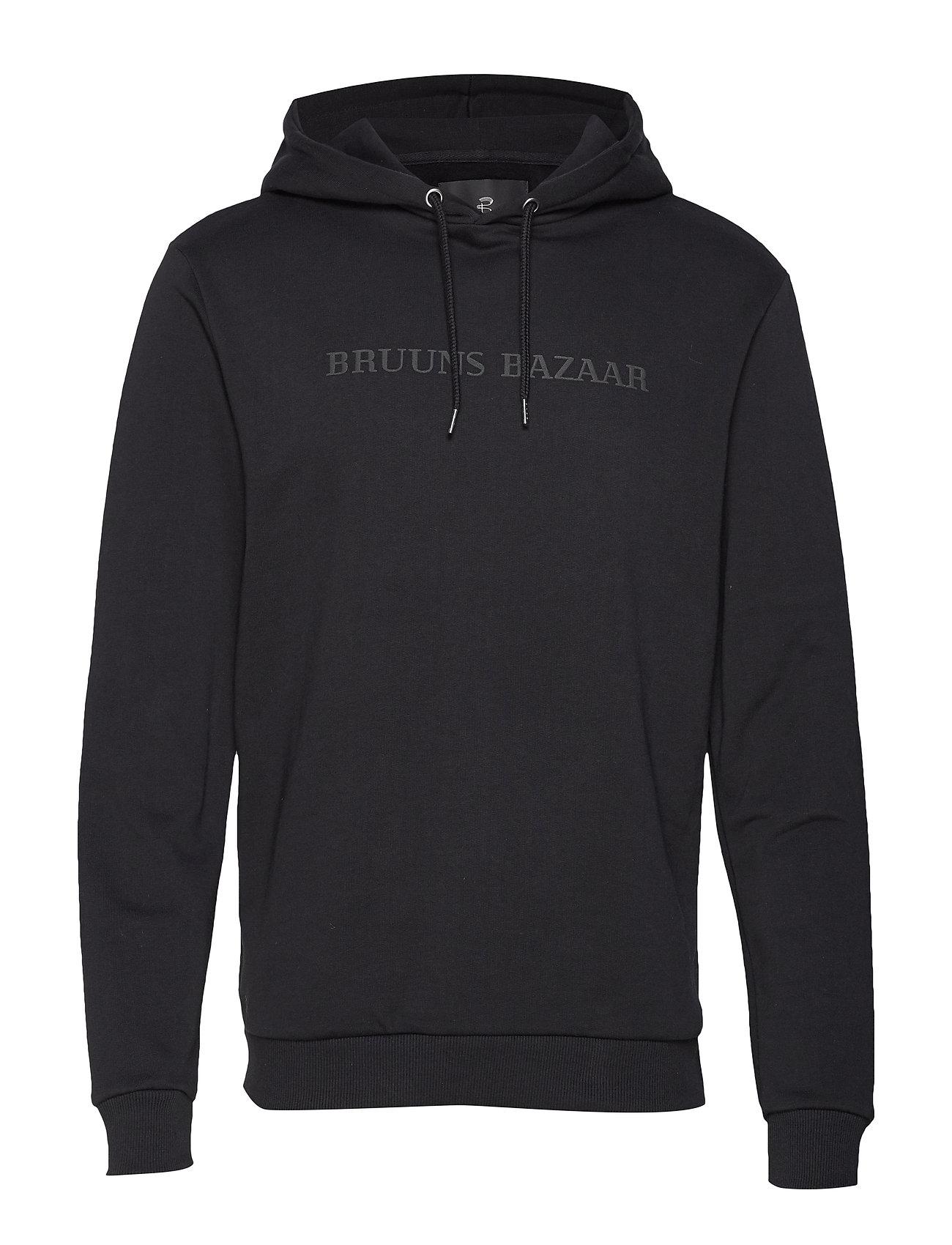 Bruuns Bazaar Bertil hoodie - BLACK