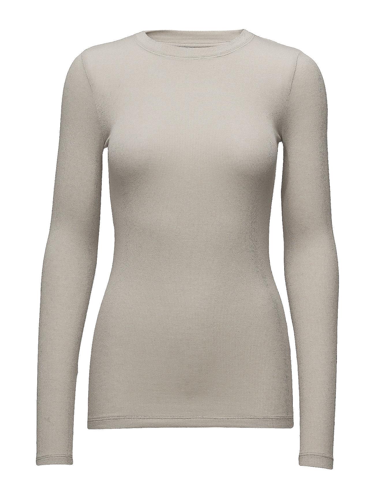 Bruuns Bazaar Angela LS T-shirt - LIGHT GREY PORPOISE