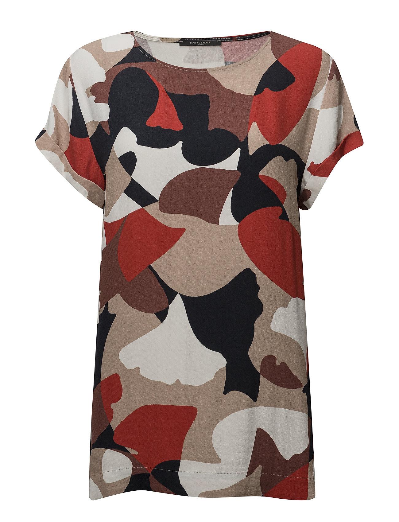 Bruuns Bazaar Freja Lynne top - GEOMETRIC PRINT