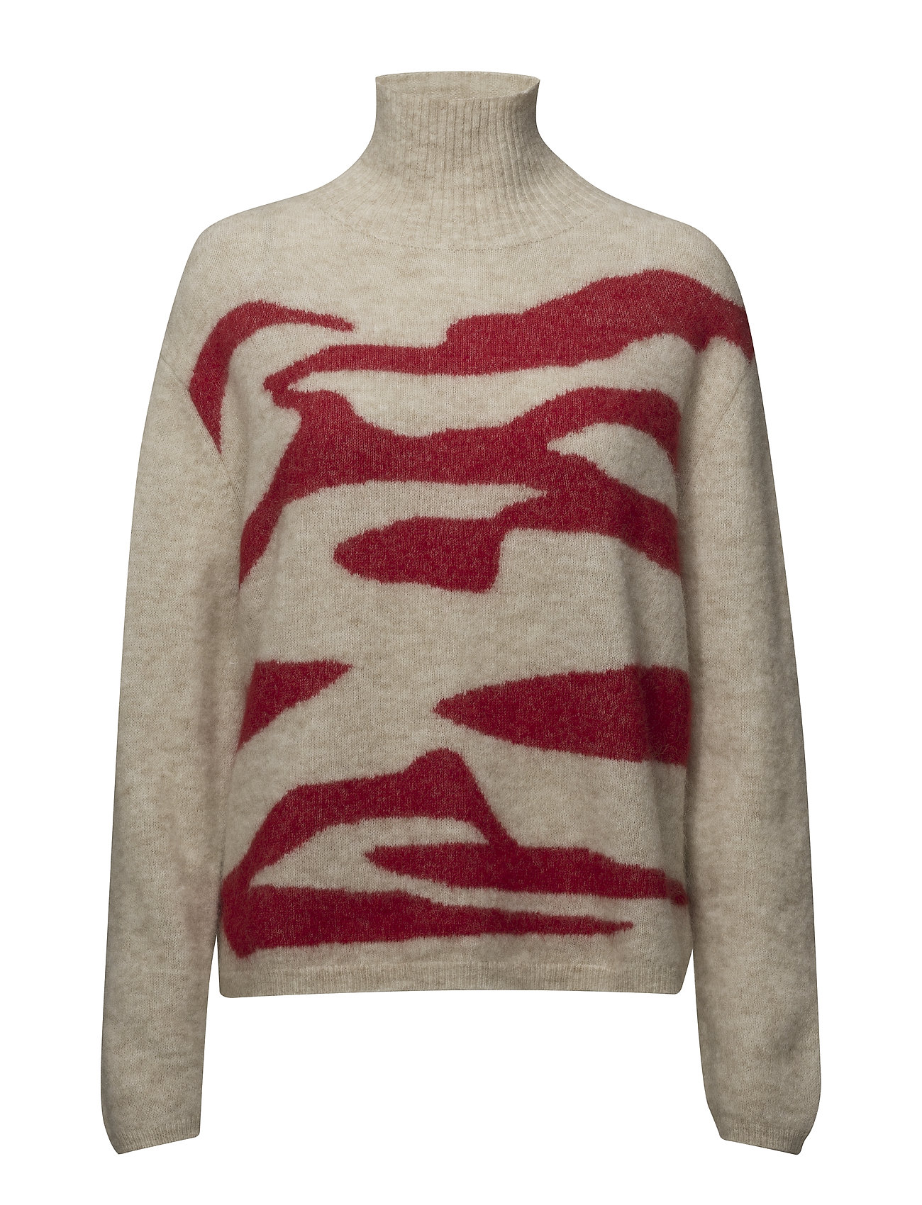 Bruuns Bazaar Alma Jenay Pullover - GINGER BEIGE/SCARLETT RED
