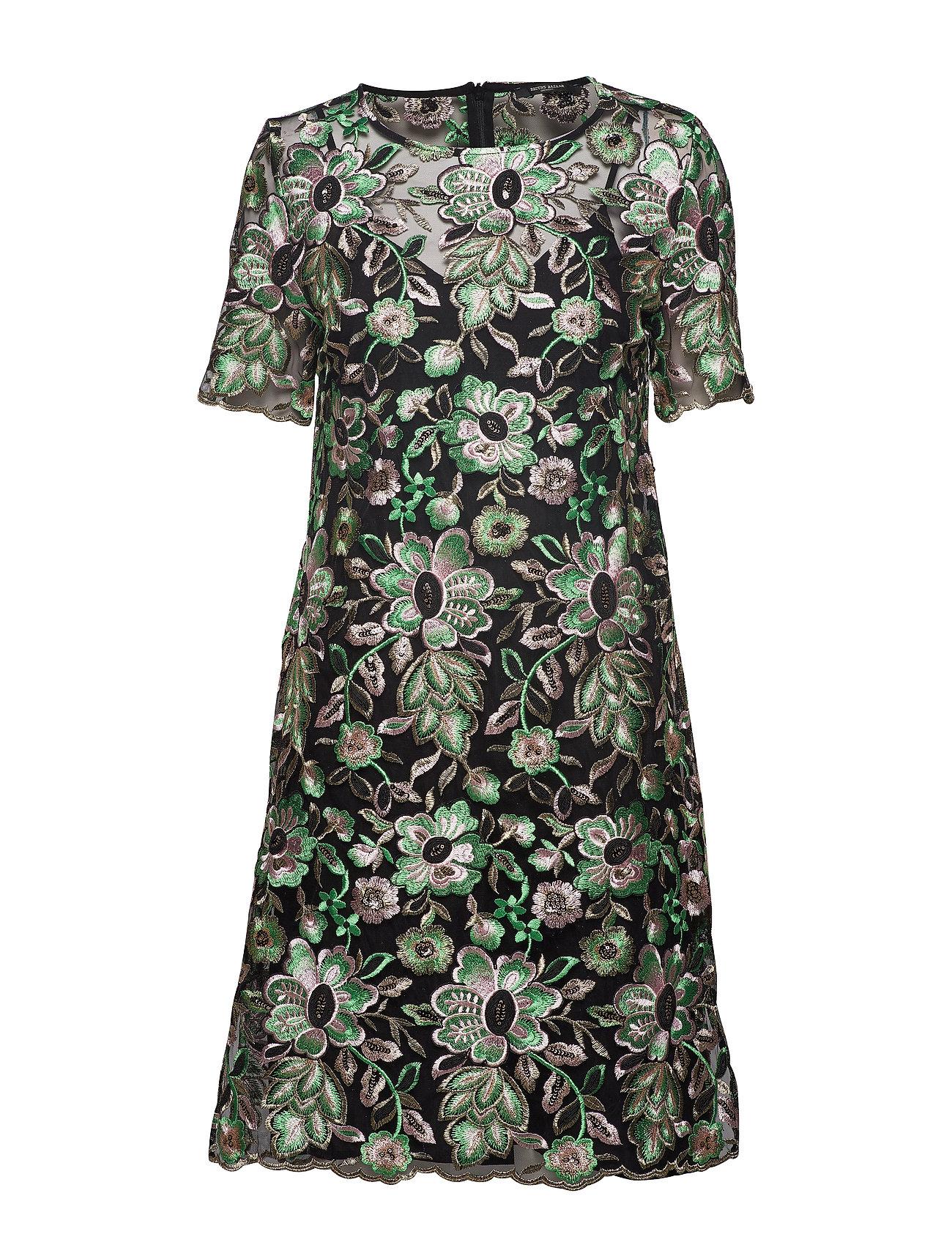 Bruuns Bazaar Tullah Celeste Dress - BLACK - EMBRODED MESH