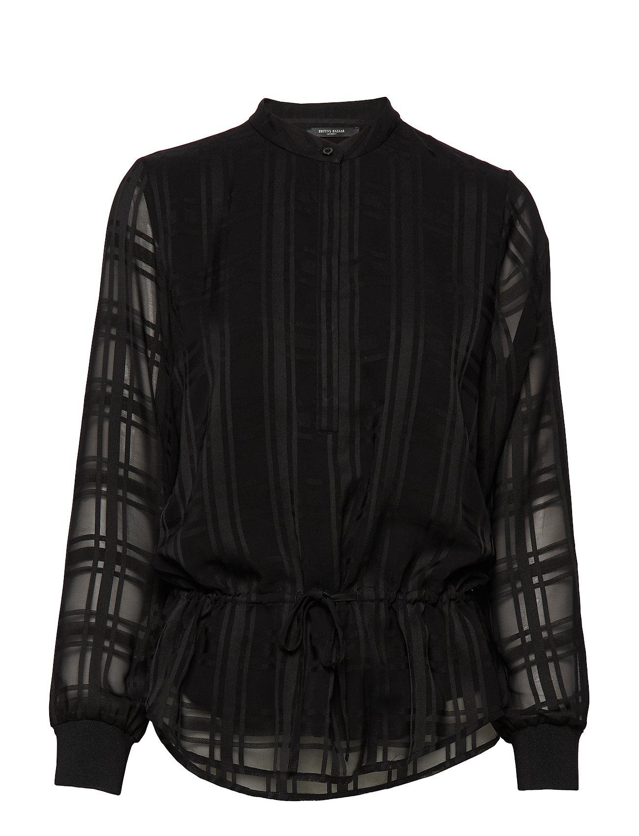 Bruuns Bazaar Freya Elise Shirt - BLACK CHECK