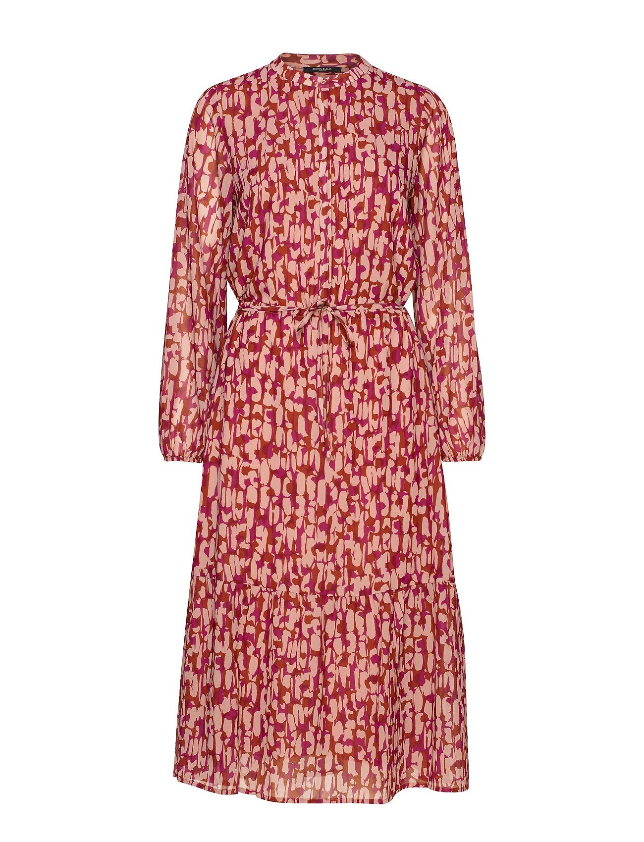 Bruuns Bazaar Structure Tessa Dress - RED RUST - STRUCTURE ARTWORK