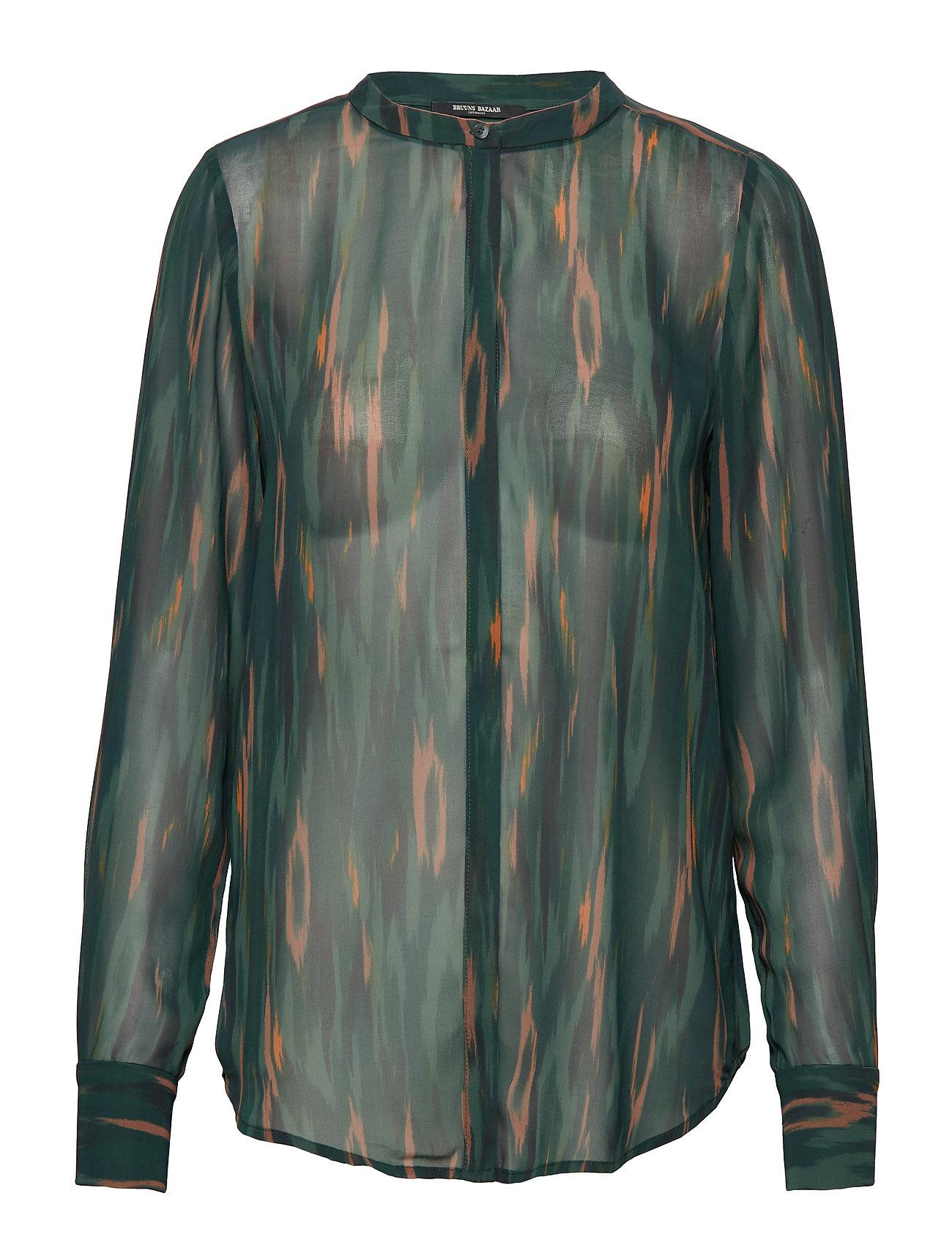 Bruuns Bazaar Camou Claire Shirt - DEEP FOREST - CAMOU ARTWORK