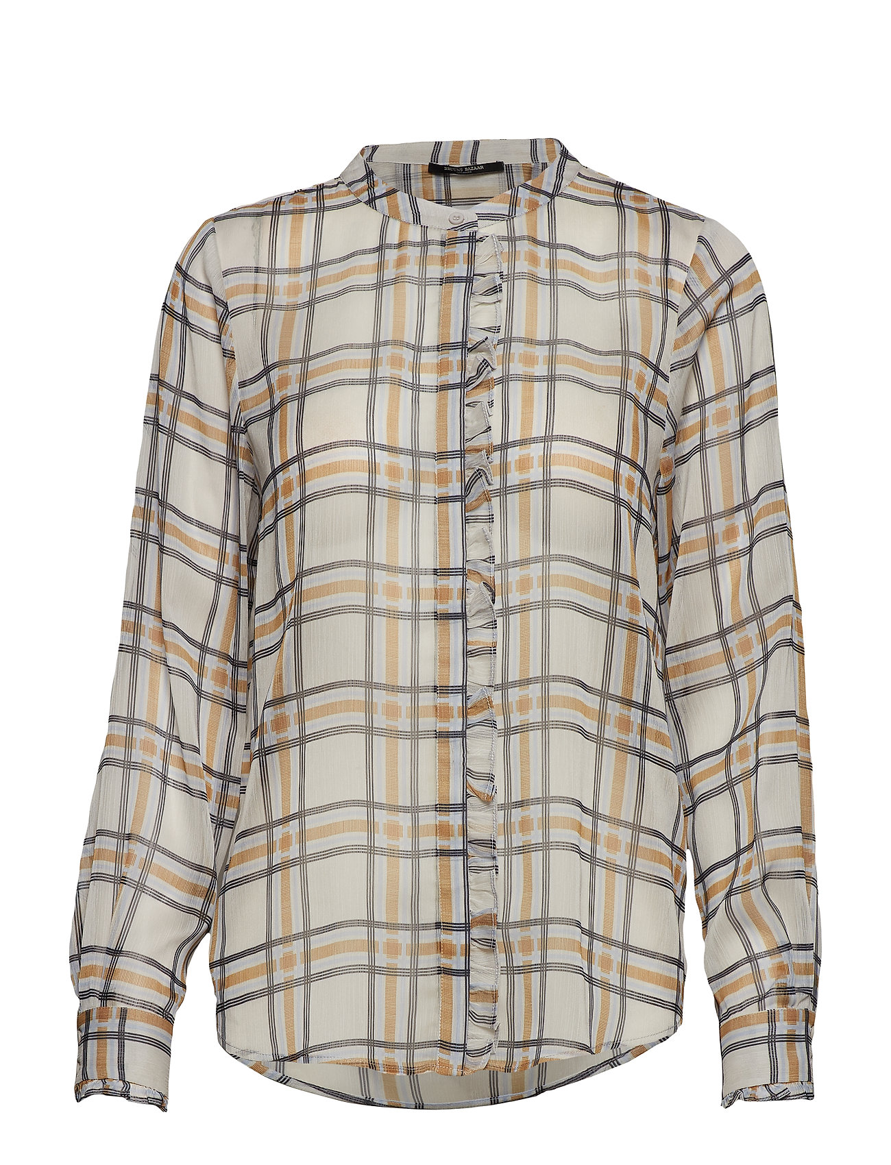 Bruuns Bazaar Check Jasmina Shirt - SNOW WHITE CHECK