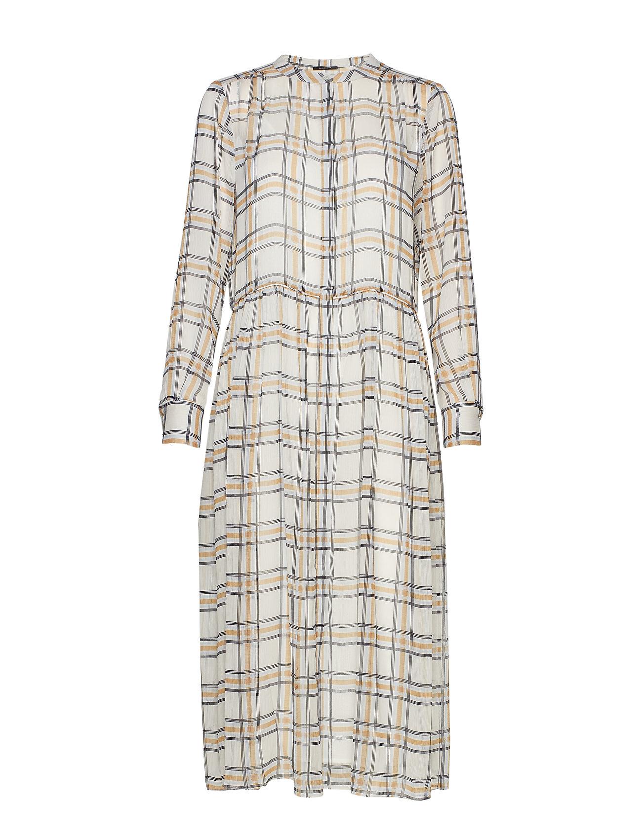 Bruuns Bazaar Check Ollie Dress - SNOW WHITE CHECK
