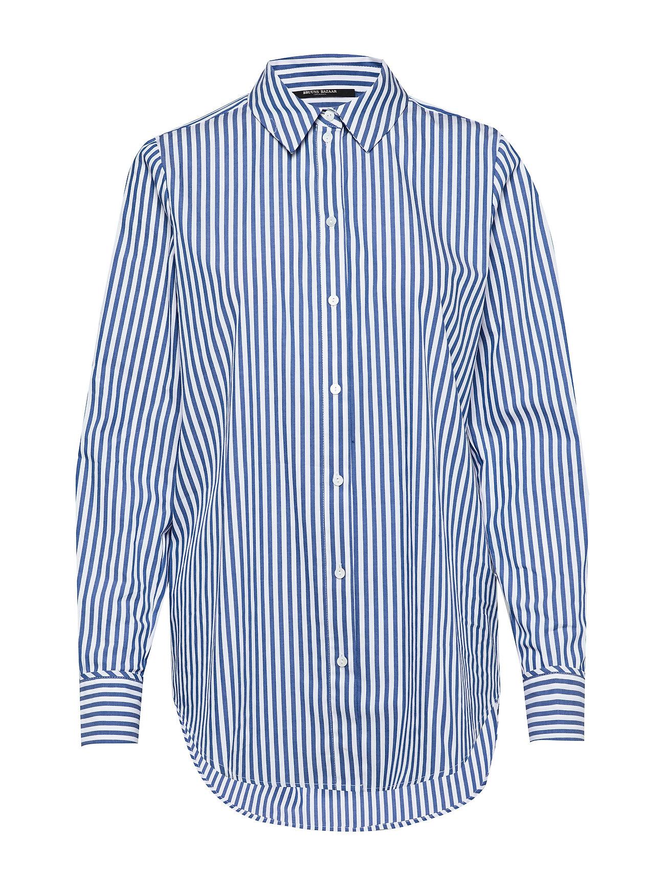 Bruuns Bazaar Rebekka Felina Shirt - INDIGO/WHITE STRIPE