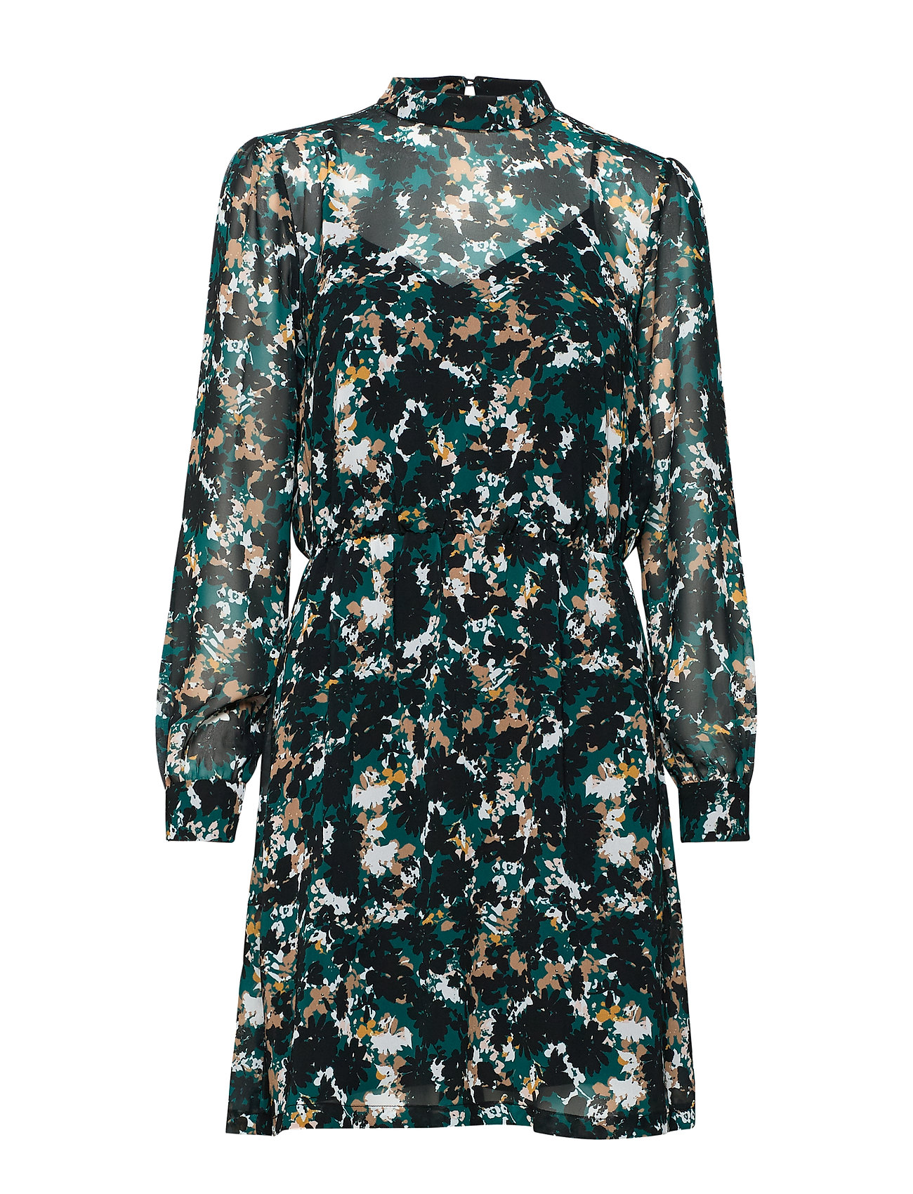 Bruuns Bazaar Botanic Lucinda Dress - BLACK/DEEP GREEN ARTWORK