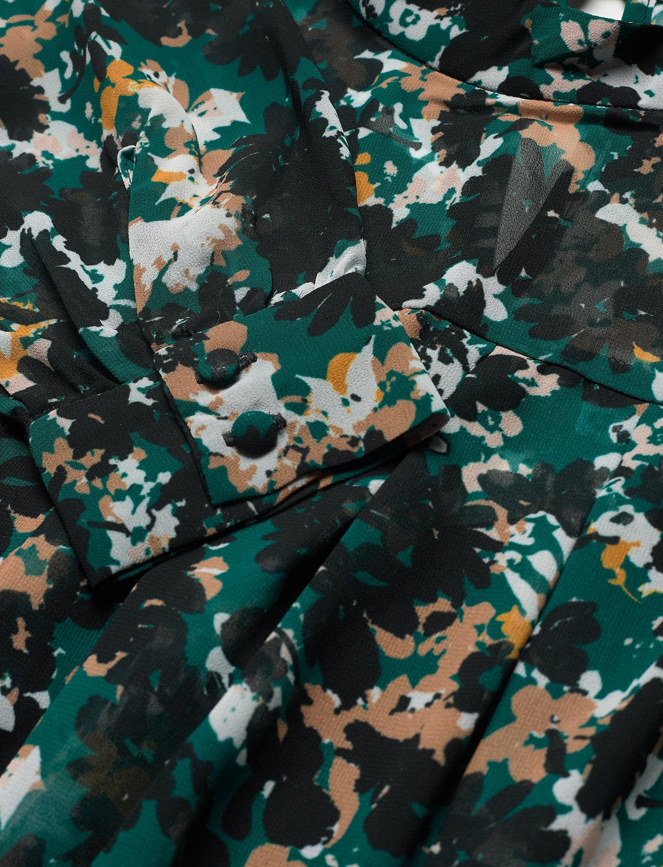 Bruuns Bazaar Botanic Emery Blouse - Bluzki & Koszule BLACK/DEEP GREEN ARTWORK - Kobiety Odzież.