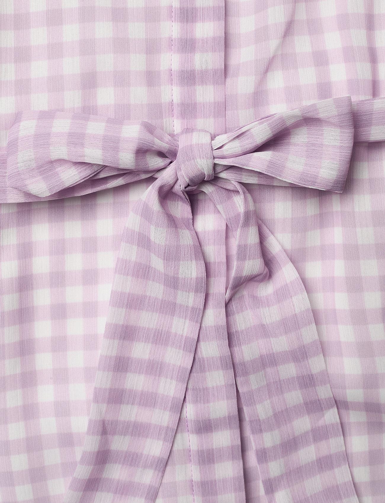 Bruuns Bazaar Checks Kora dress - Sukienki LAVENDER - Kobiety Odzież.
