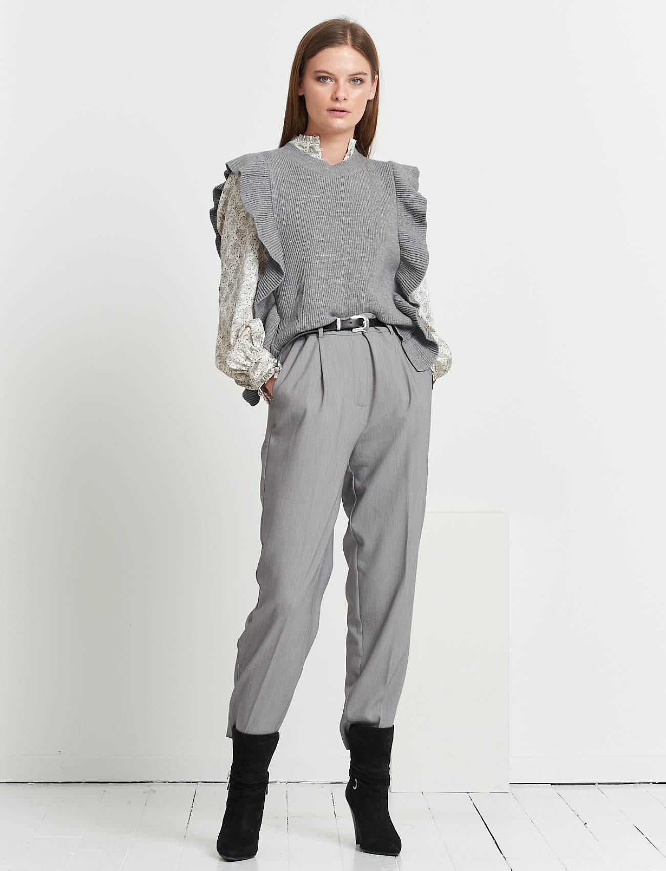 Bruuns Bazaar - Simona Innea knit vest - knitted vests - grey melange - 0