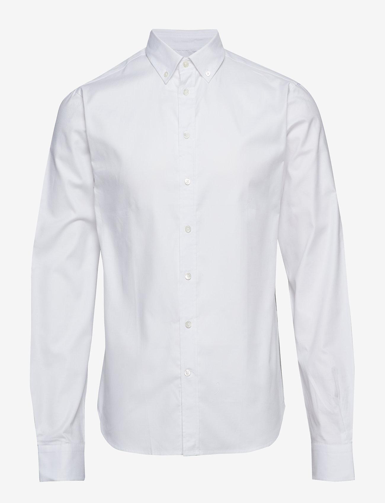 Bruuns Bazaar - Anthonys NY Stretch Oxford Shirt - chemises basiques - white - 0
