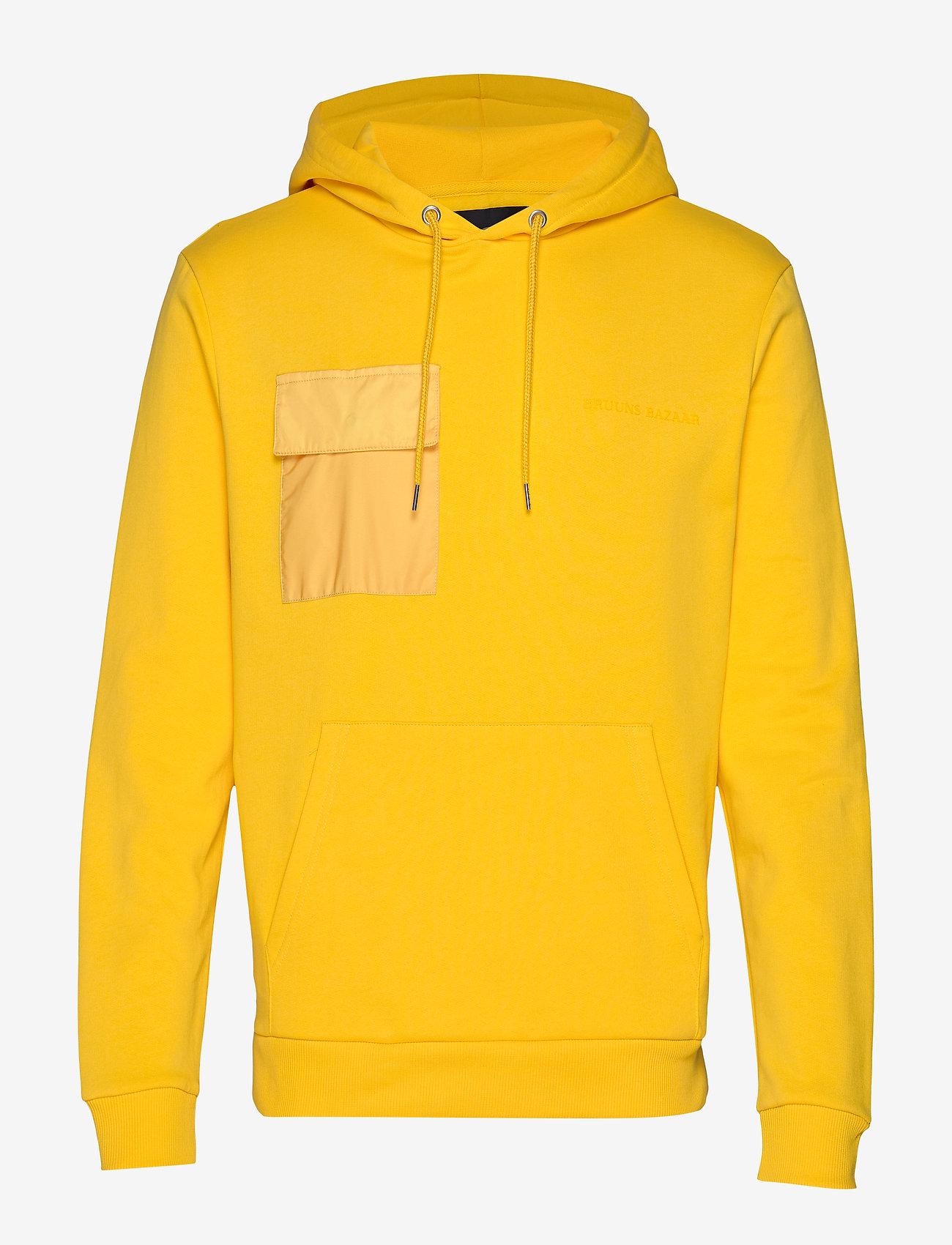 Bruuns Bazaar - Bertel Utility Sweat - basic sweatshirts - bright yellow - 0