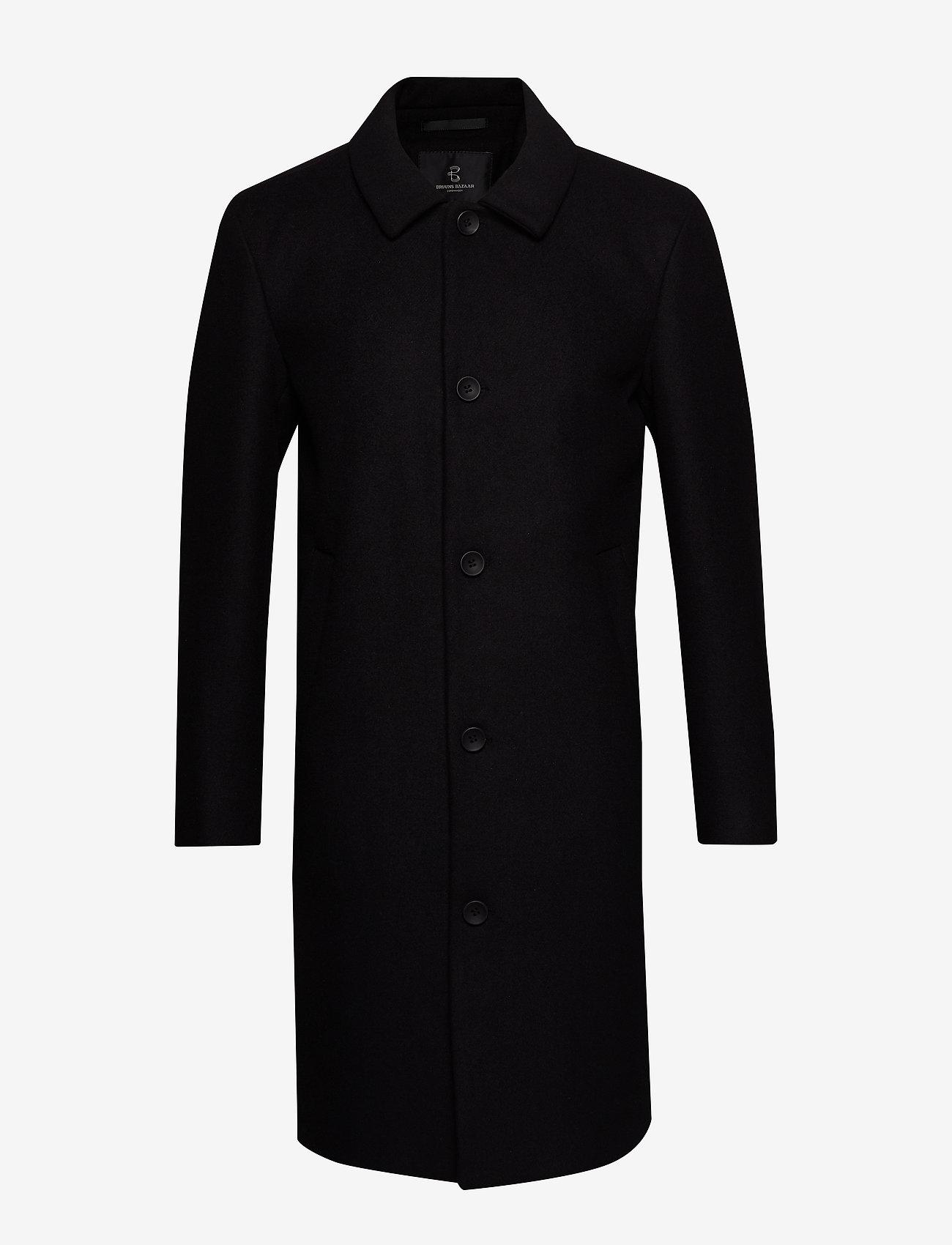 Bruuns Bazaar - Aslan Mac Coat - wollen mantels - black - 0
