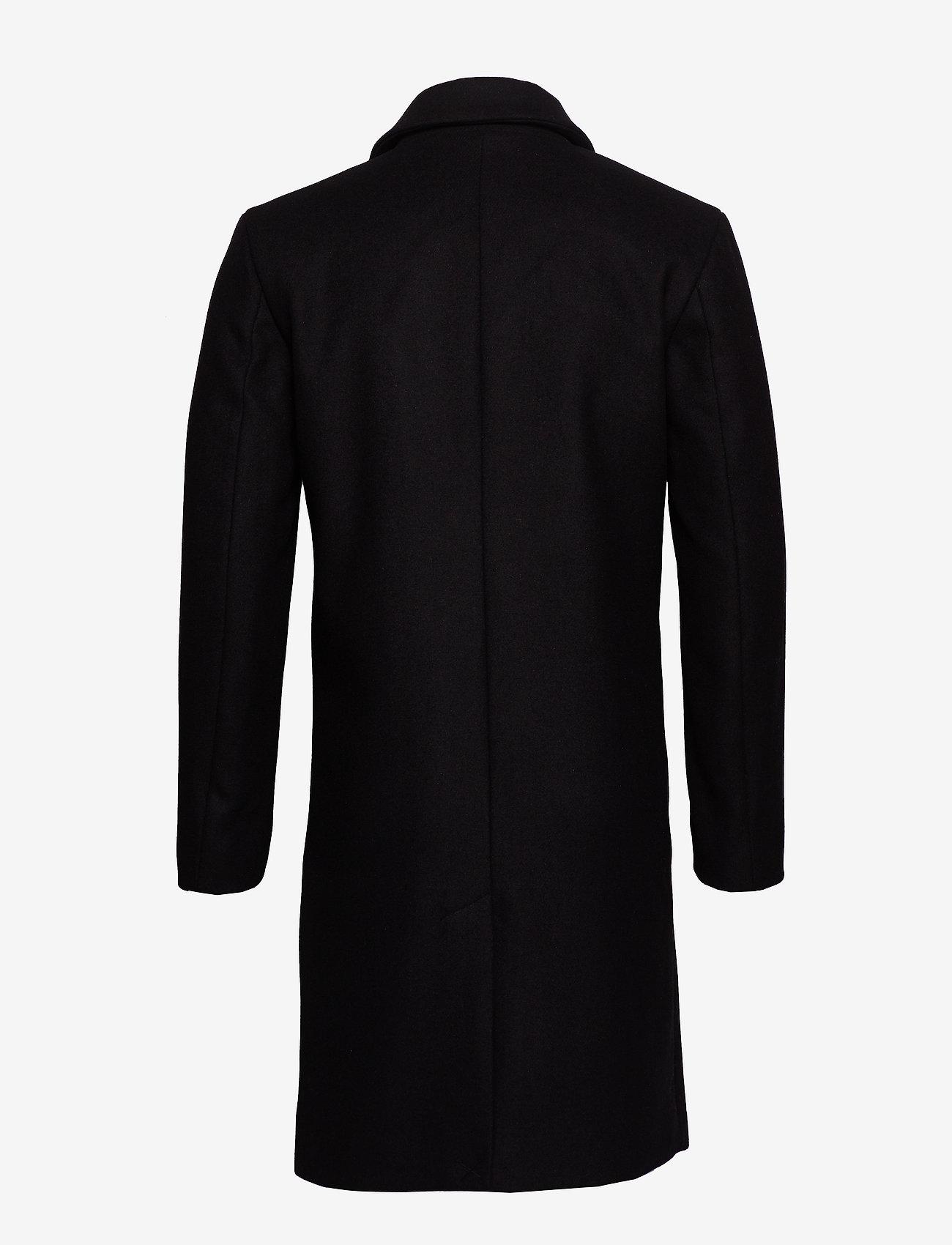 Bruuns Bazaar - Aslan Mac Coat - wollen mantels - black - 1