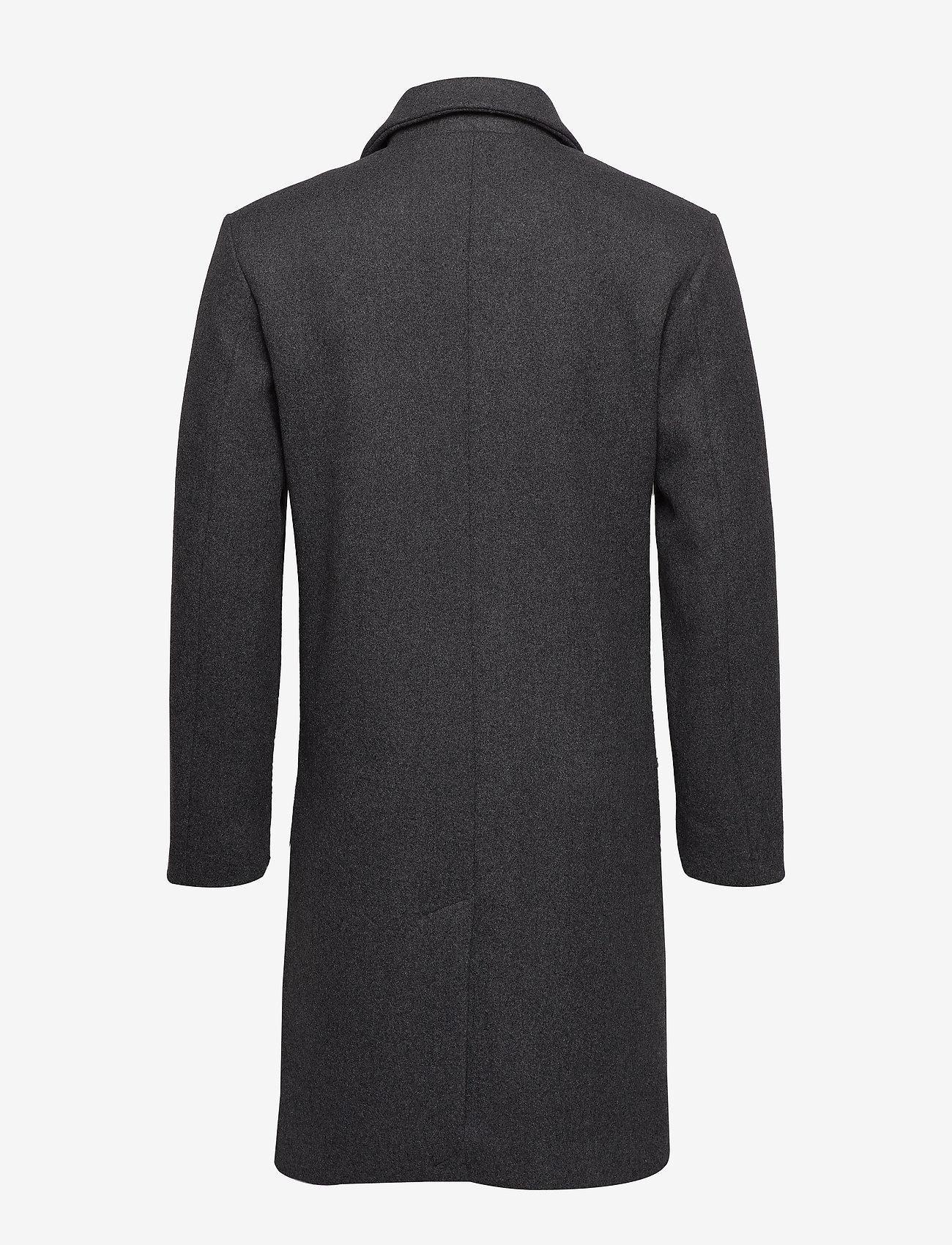 Bruuns Bazaar - Aslan Mac Coat - manteaux de laine - grey mel - 1