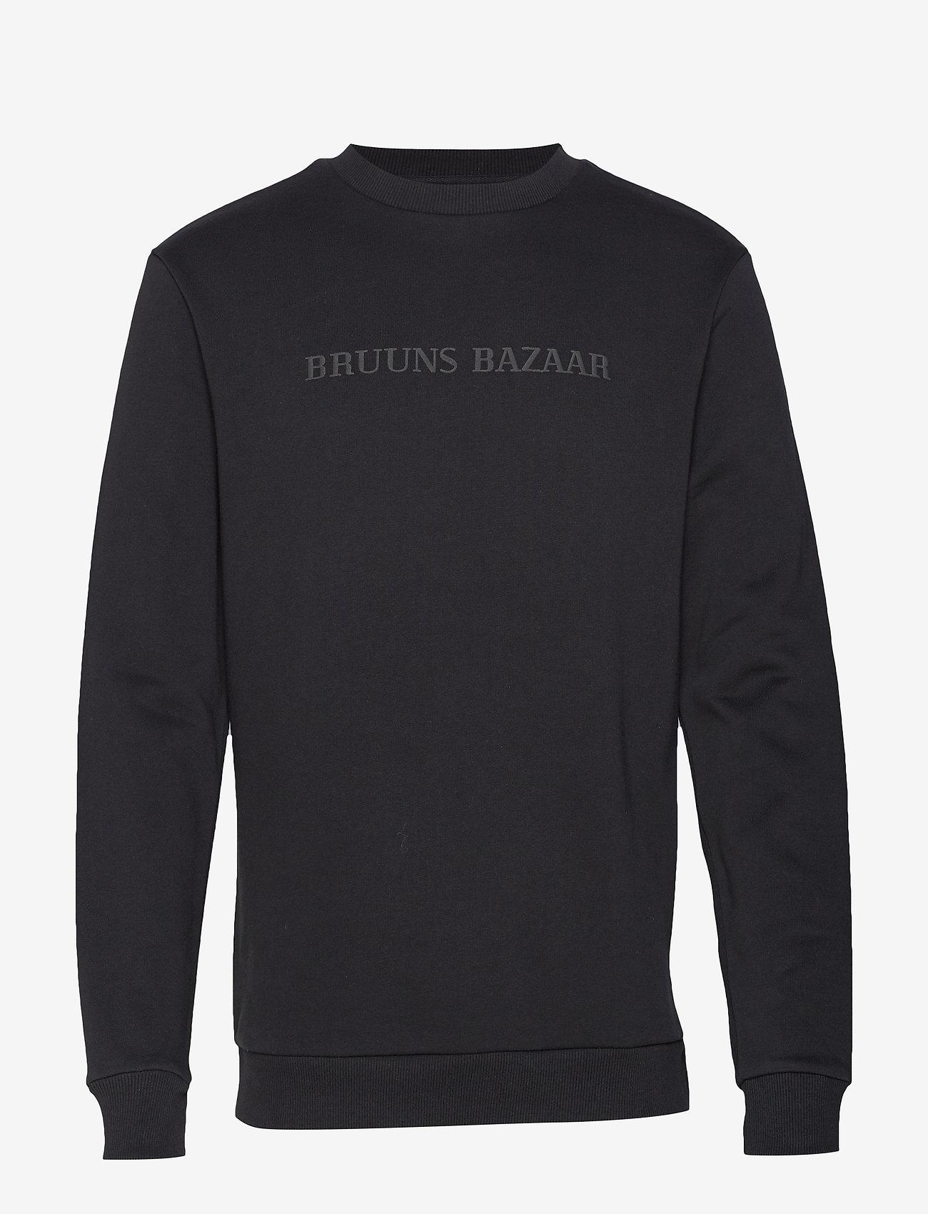 Bruuns Bazaar - Birk Crew Neck - sweats - black - 0
