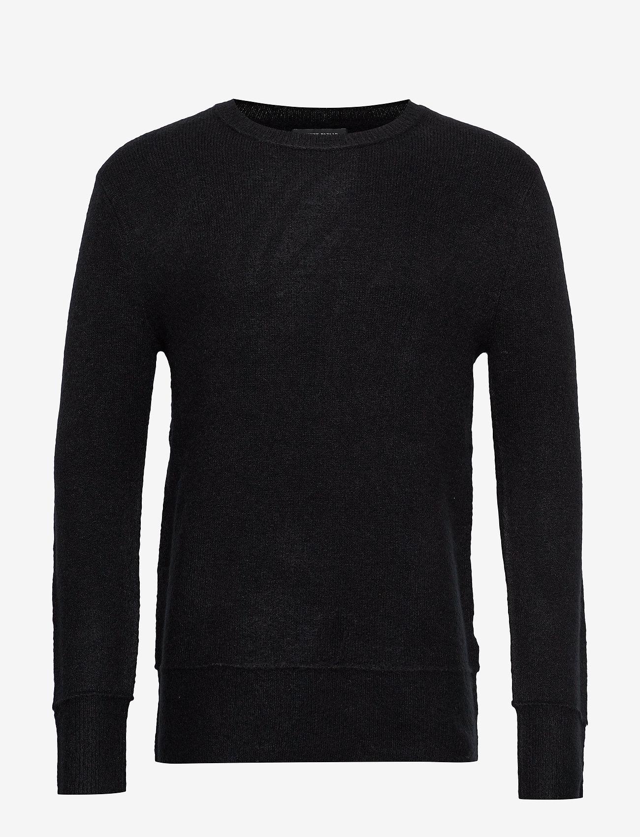Bruuns Bazaar - Chris Crew Neck - tricots basiques - black - 0