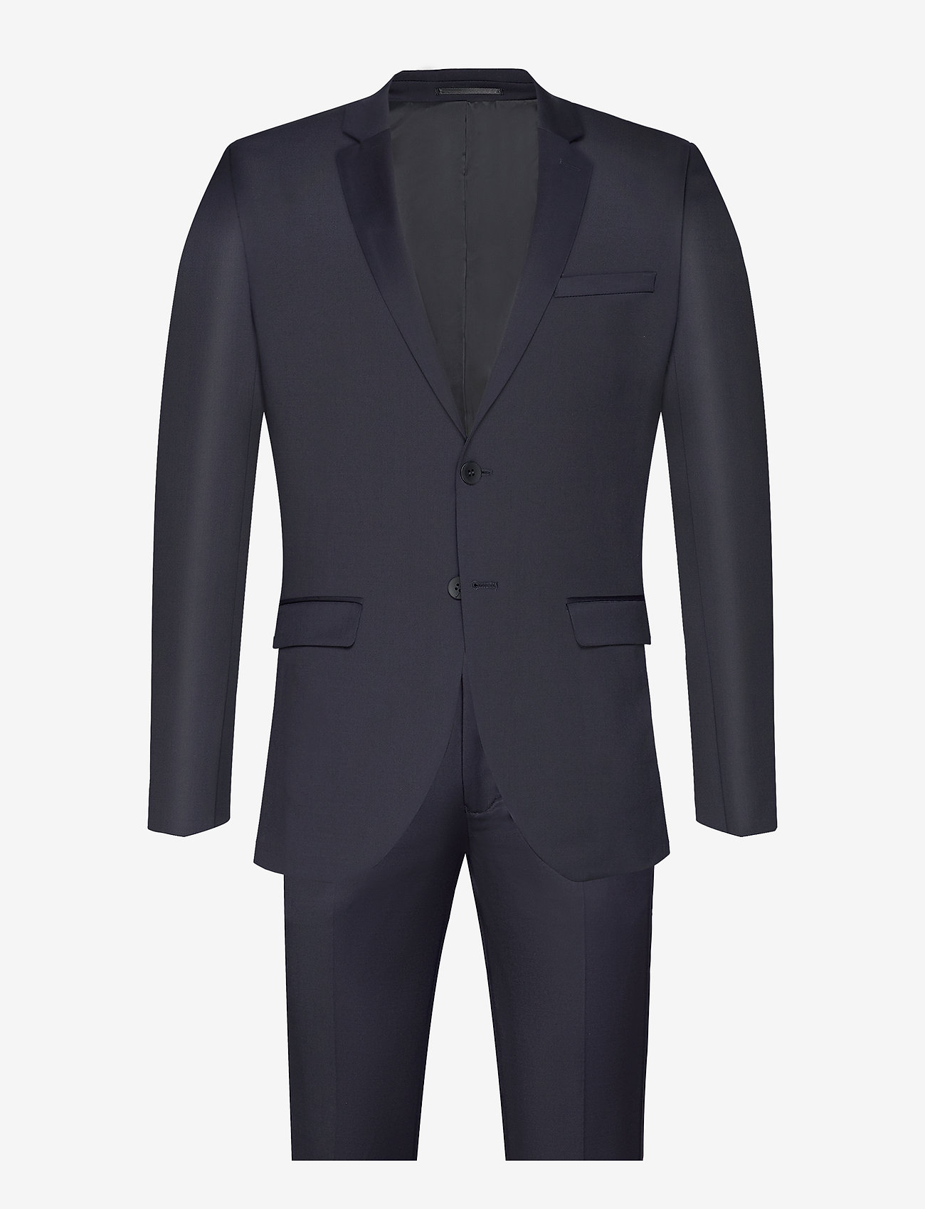 Bruuns Bazaar - Karl Suit - costumes simple boutonnage - dark navy - 0
