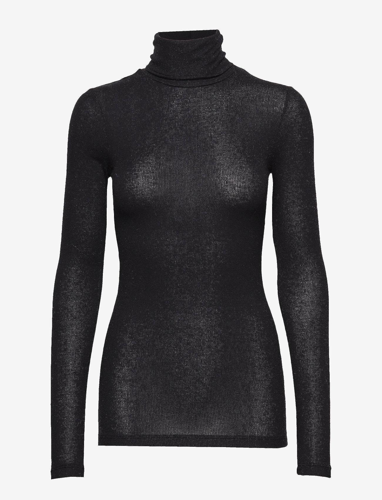 Bruuns Bazaar - Angela Roll neck - golfy - black - 0