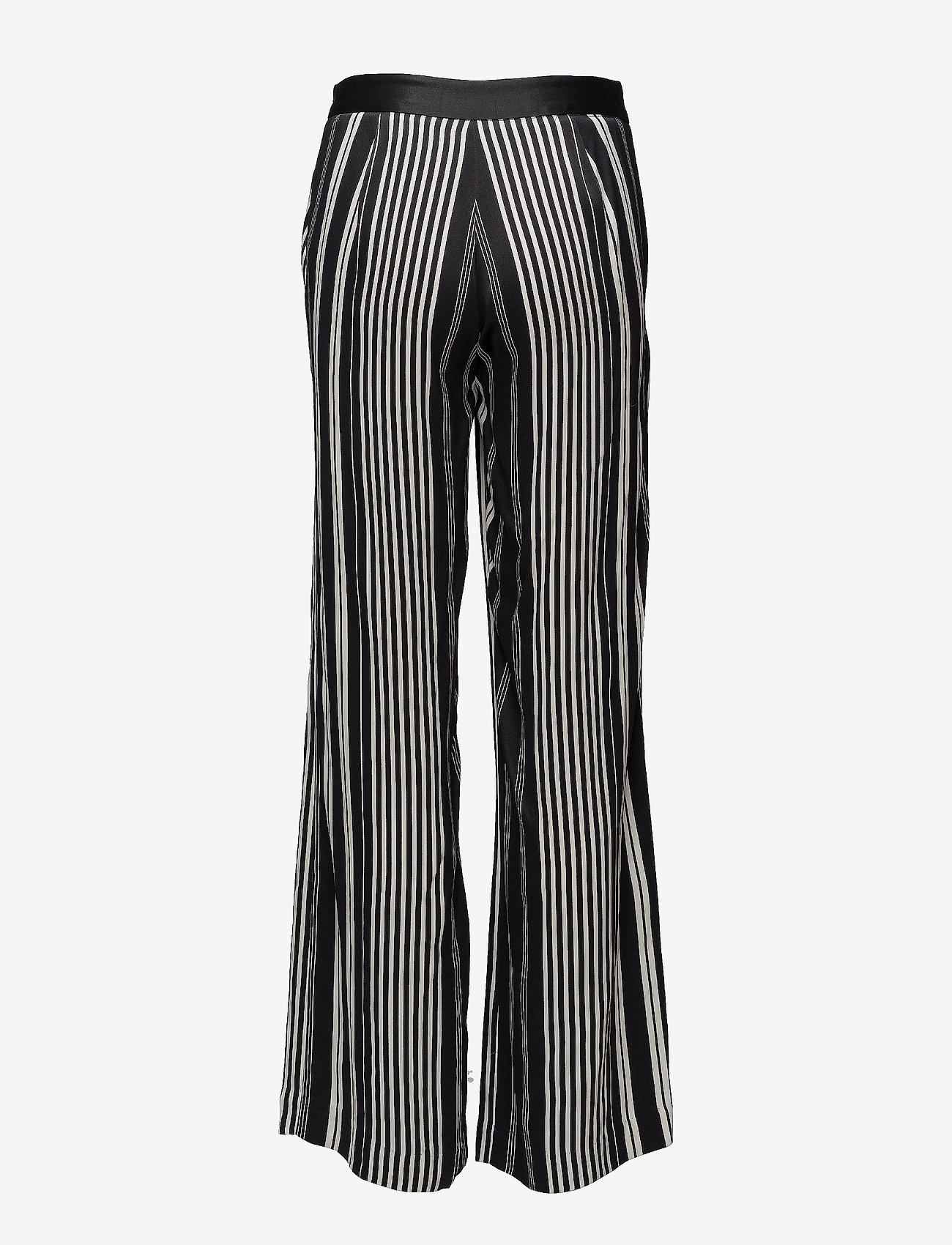 Anna Stripe Pant (Black/white Stripes) - Bruuns Bazaar LEyfyR