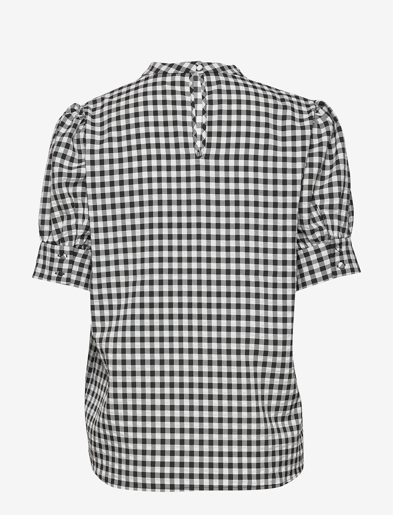 Bruuns Bazaar - Seer Adelaia blouse - bluzki krotkim rekawem - black/white check