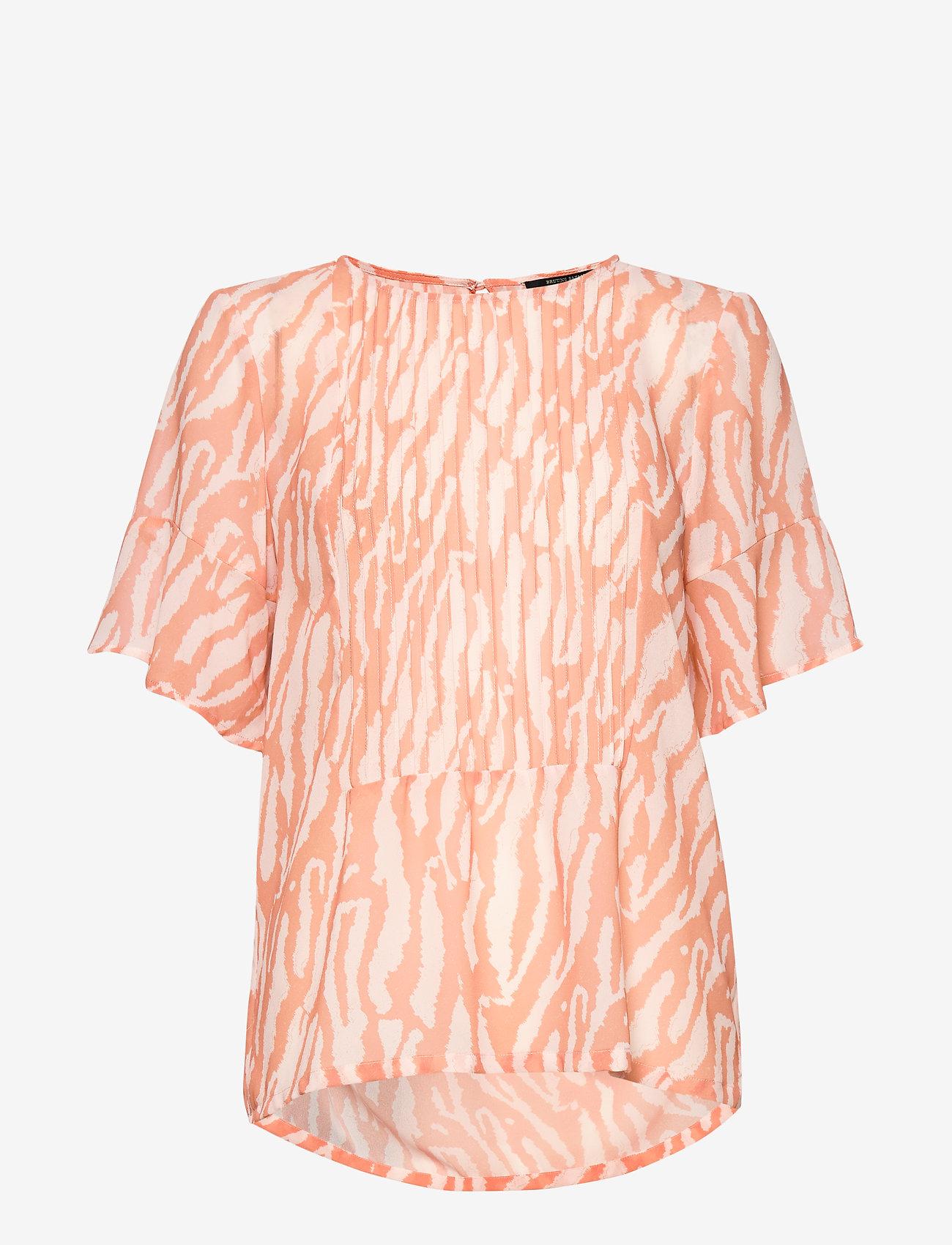 Bruuns Bazaar - Gloss Juliet top BZ - blouses à manches courtes - gloss artwork - 0