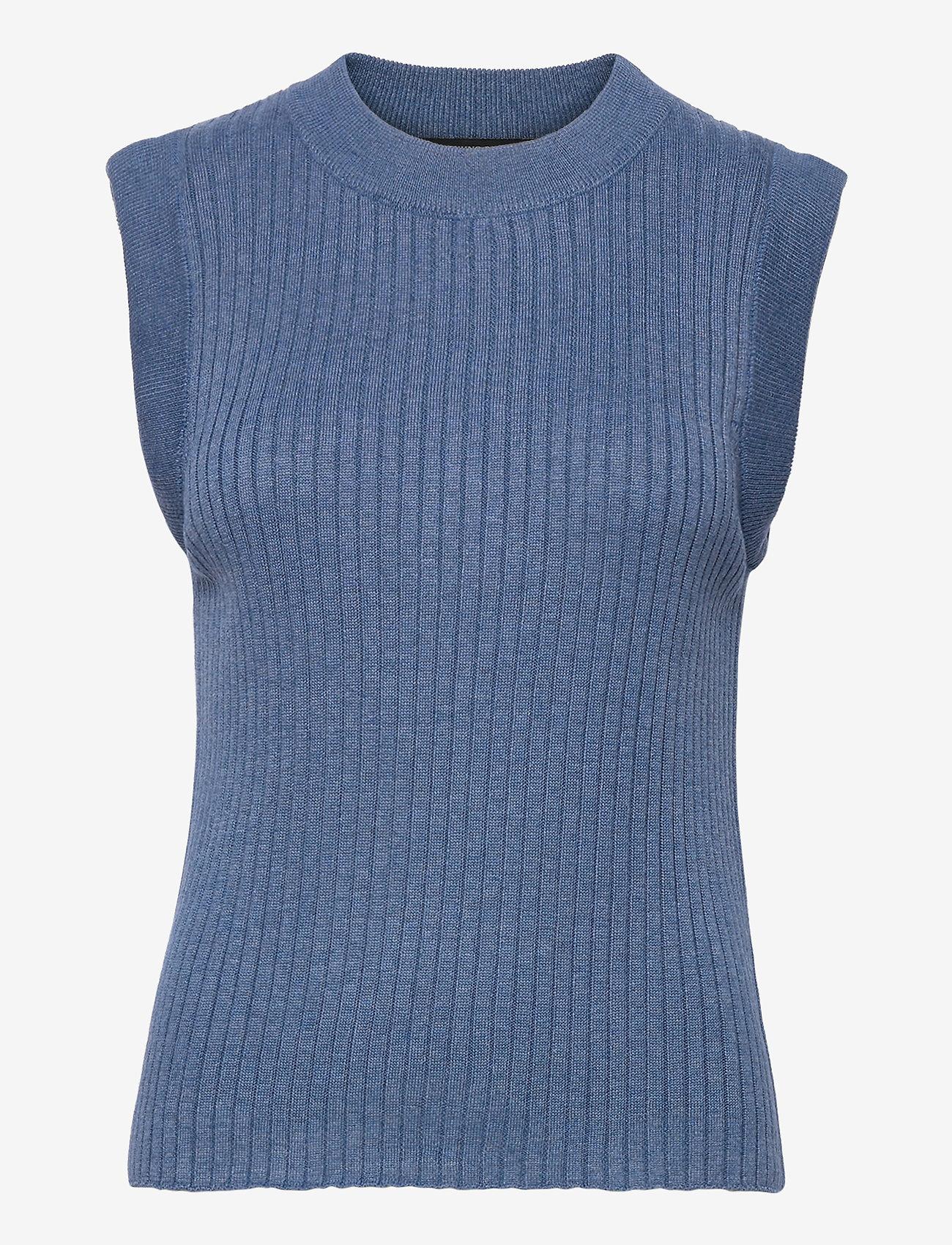 Bruuns Bazaar - Daylily Rosmine knit top - strikkede toppe - riverside - 0