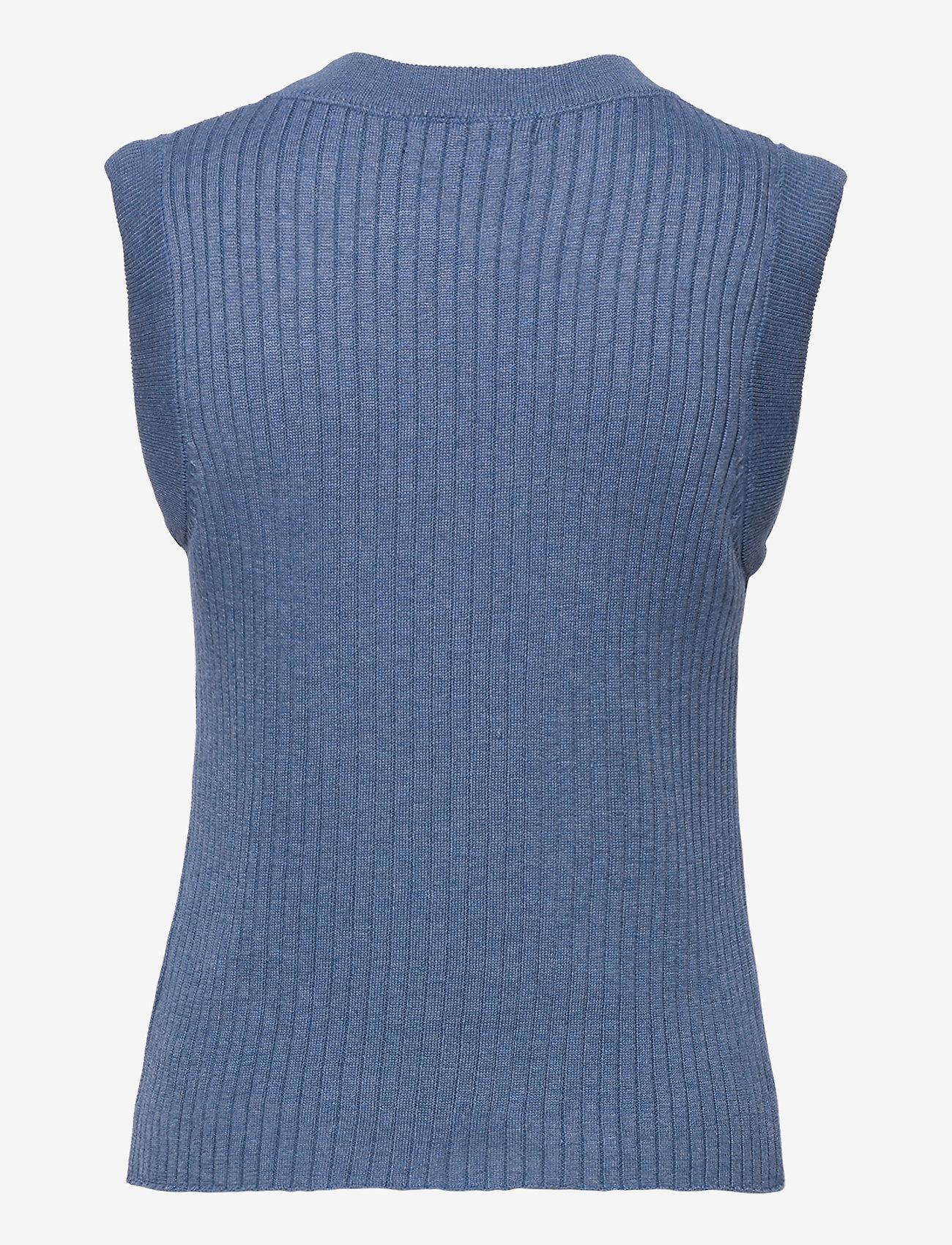Bruuns Bazaar - Daylily Rosmine knit top - strikkede toppe - riverside - 1