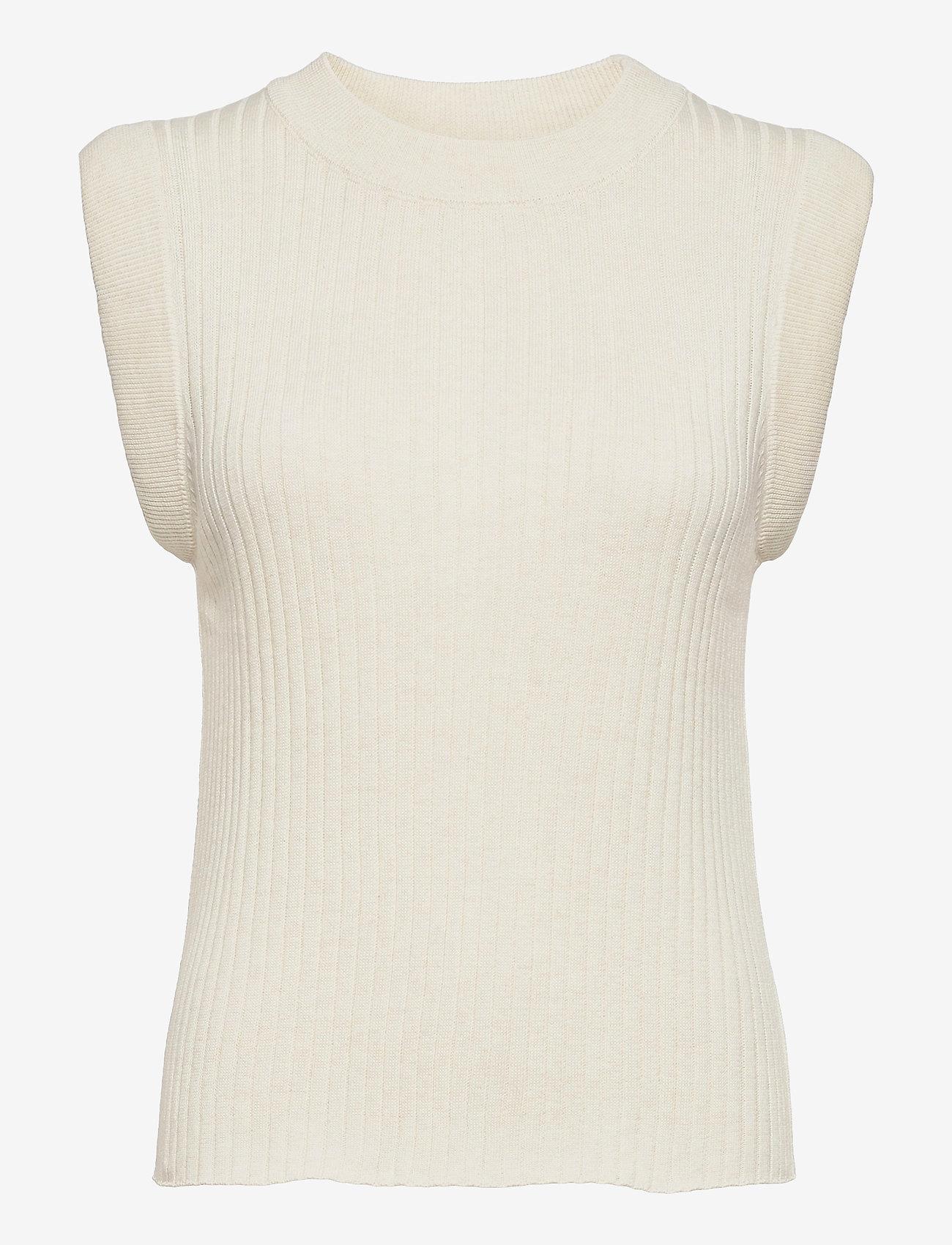 Bruuns Bazaar - Daylily Rosmine knit top - strikkede toppe - sandstorm - 0
