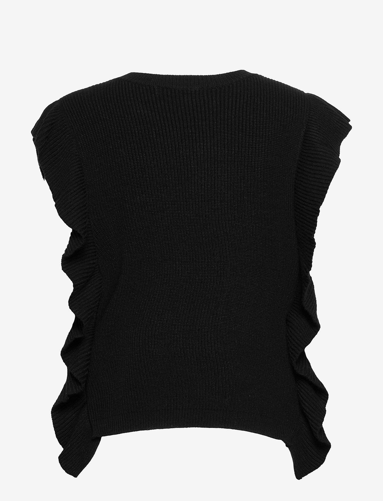 Bruuns Bazaar - Simona Innea knit vest - knitted vests - black - 2